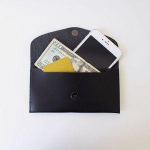 Handbags - MINIMAL WALLET IPHONE POUCH IN BLACK
